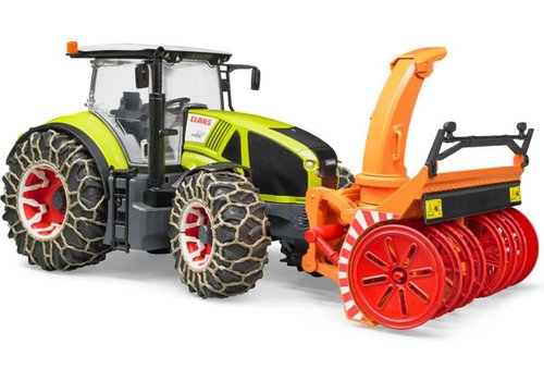 Bruder Claas Axion 950 w snow chains