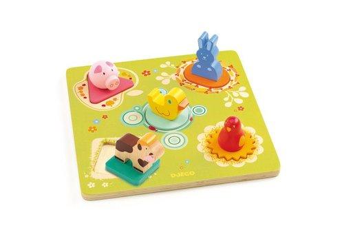 Djeco Puzzle bois / Bildi / 5 pcs