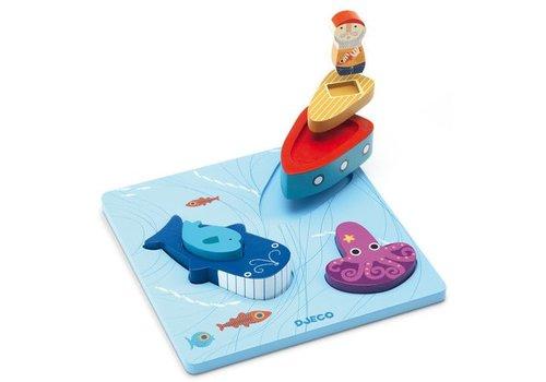 Djeco Puzzle bois / 1,2,3 Moby