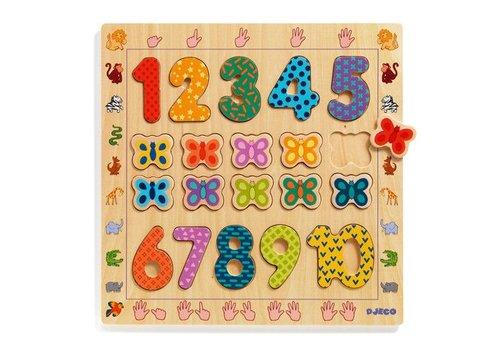 Djeco Wooden Puzzle / 1 t0 10 / 20 pcs