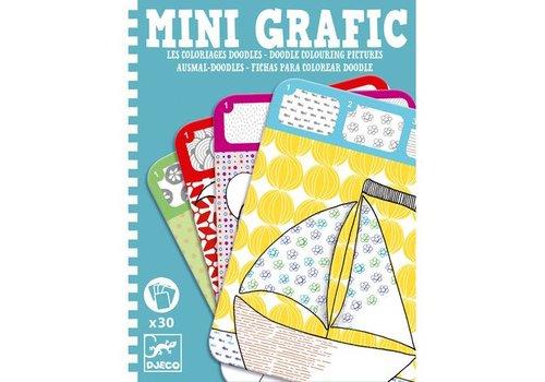 Djeco Mini grafic / Coloriages Doodle (Mini-mandalas)