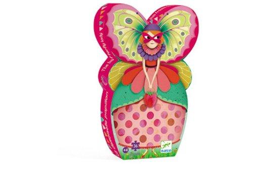 Djeco Puzzle silhouette / La demoiselle papillon / 36 pcs