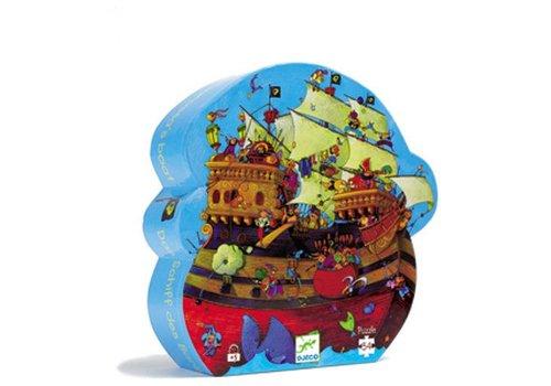 Djeco Puzzle silhouette / Bateau Barberousse / 54 pcs