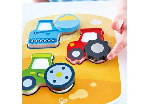Hape Casse-tête véhicules de construction - Dynamic Construction Puzzle
