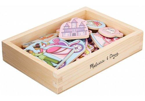 Melissa & Doug Wooden Princess Magnets