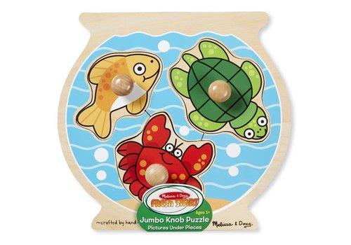 Melissa & Doug Fish Bowl Large Peg Puzzle