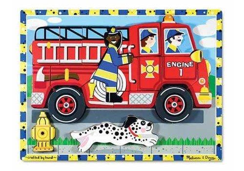 Melissa & Doug Casse-tête en bois en camion de pompier