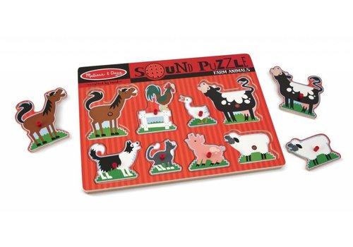 Melissa & Doug Puzzle sonore animaux de la ferme - Farm Animals Sound Puzzle