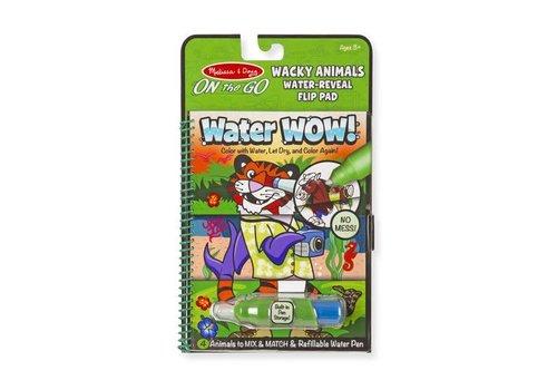 Melissa & Doug Water Wow ! Wacky Animals Flip Pad - animaux fantaisistes