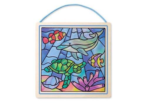 Melissa & Doug Vitrail devenu un jeu d'enfant Océan - Stained Glass Ocean