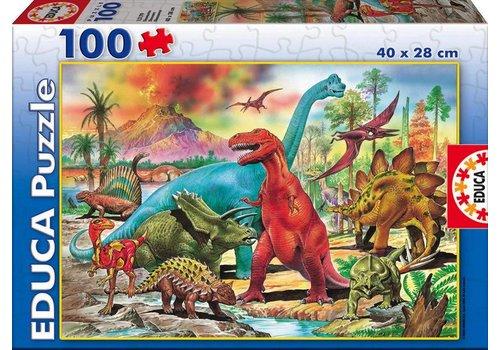 Casse-tête 100 pièces dinosaures