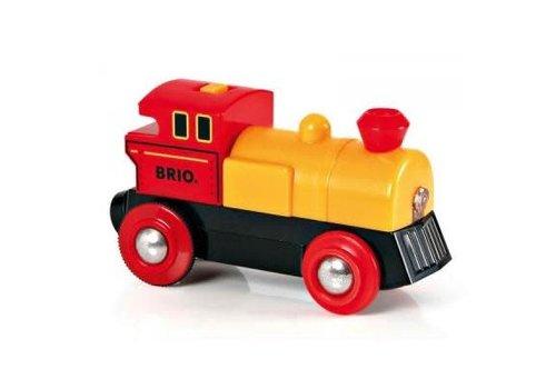 Brio Locomotive à pile bi-directionnelle jaune