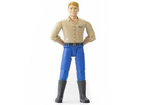 Bruder Homme avec jeans bleu