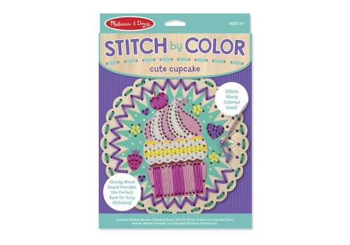 Melissa & Doug Stitch by color - Cute cupcake