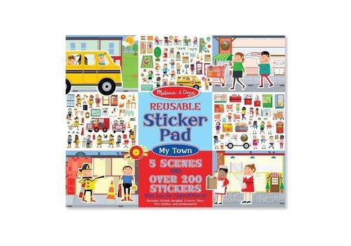 Melissa & Doug Reusable Puffy Sticker - My Town