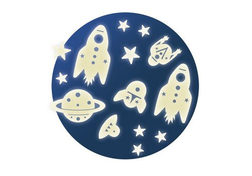 Lovely Paper Phosphorescents decorations / Space mission