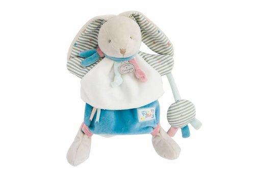 Doudou et Compagnie Marionnette Poésie Happy le lapin - 28 cm