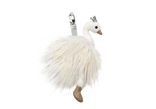 Doudou et Compagnie Porte-clés Cygne Blanc 12 cm (0718)