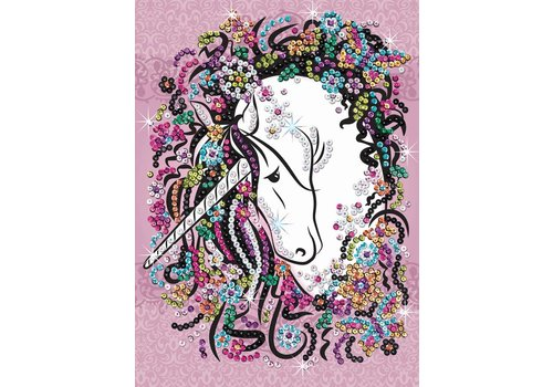 Sequin art craft teen Unicorn