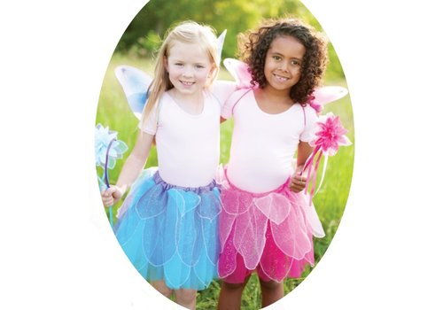 creative education Fancy Flutter Skit with Wings & Wand. Blue. Size 4-7 (BLEU)