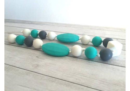 Bijoux MCC Collier de dentition Hirondelle Turquoise-Blanc-Gris