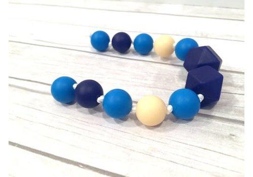 Bijoux MCC Collier de dentition Colibri Vanille-Bleu français-Bleu marine
