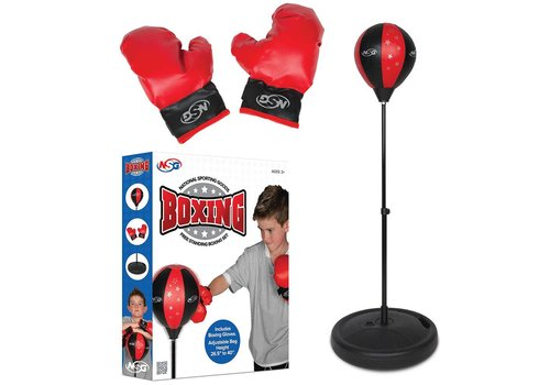 NSG Ensemble de boxe de plancher et gants de boxe