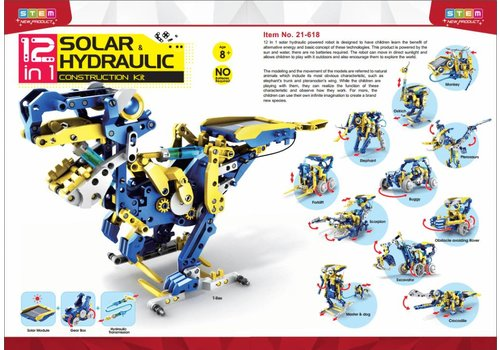 STEM 12 in 1 Solar Hydraulic Construction Kit