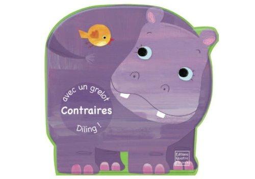 Editions quatre fleuve Contraires livre de bain avec grelot