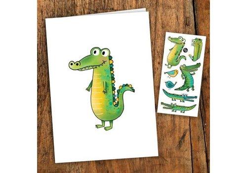 pico Carte de souhait- Le crocodile