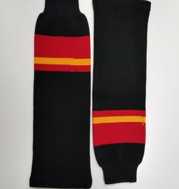 Hockey Socks, Black, red, yellow, One Size