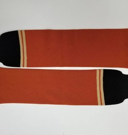 Hockey Socks, Orange & Black, One Size