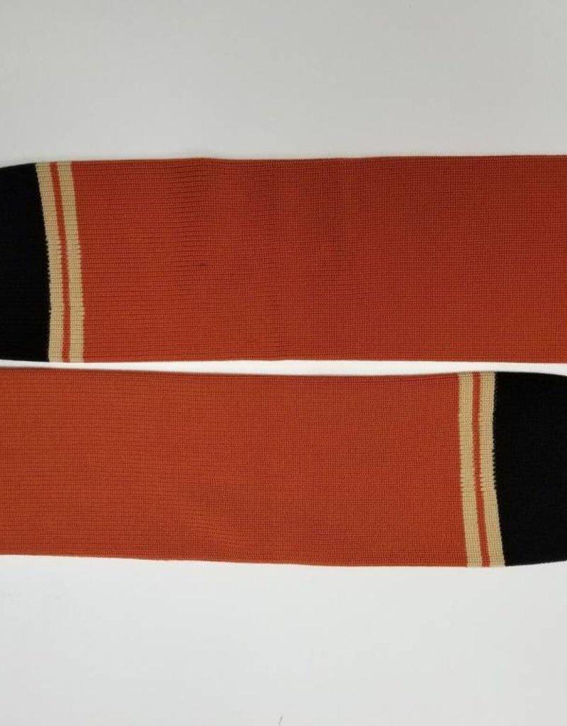 Hockey Socks, Orange & Black, One Size