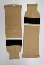 Hockey Socks, Tan, White, Black, One Size
