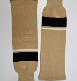 Hockey Socks, Tan, White, Black, One Size