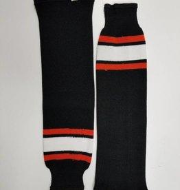 Hockey Socks, Black, Orange, White, One Size