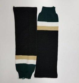 Hockey Socks Black, White & Green
