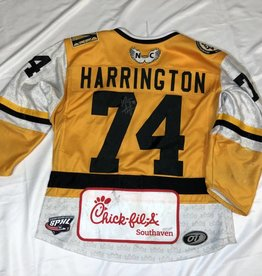 Harrington 74 Gold Game Worn Jersey