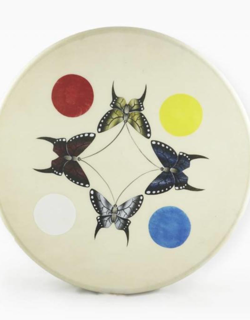 """Glendale, Joan 18"""" Butterfly Drum Design"""