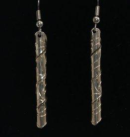 Vincent Henson Eagle Spiral Silver Earrings