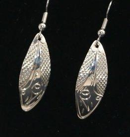 Vincent Henson Hummingbird Silver Earrings