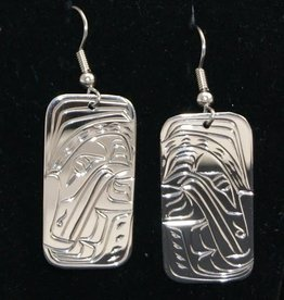 Nancy Dawson Raven Silver Earring