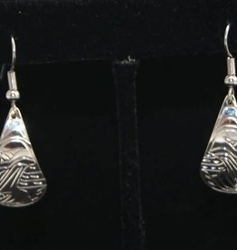 Nancy Dawson Raven Teardrop Silver Earring