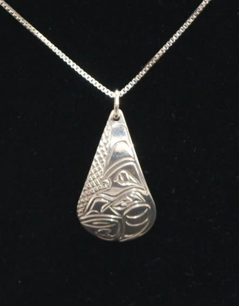 Vincent Henson Tear drop Sliver Necklace