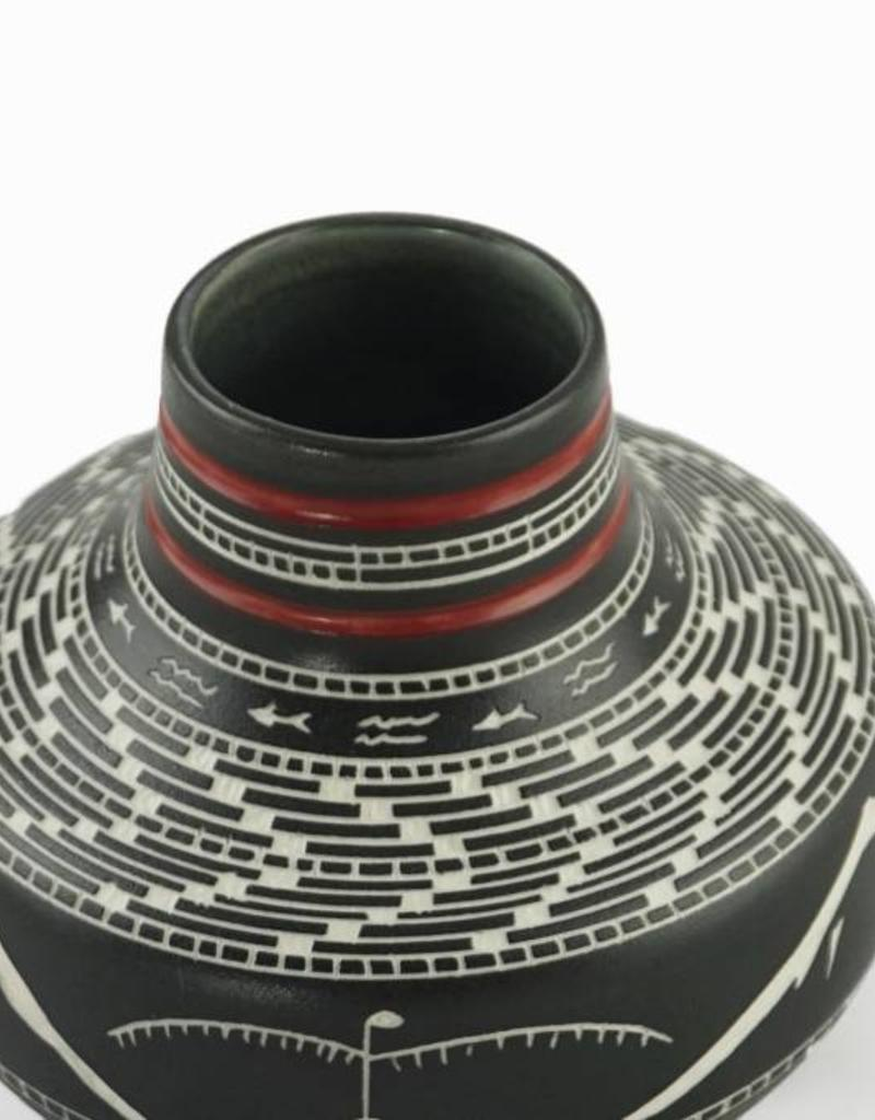 Leach, Patrick Pottery-Medium Basket weave, Two Tone #0360