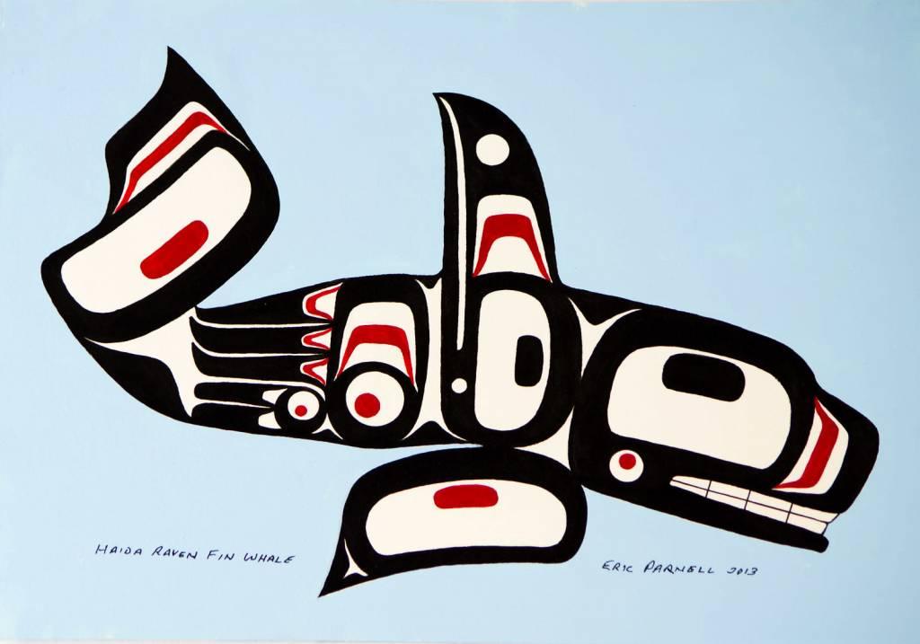 Haida Art Whale Parnell Eric Haida Raven Fin Whale original Skwachay39s