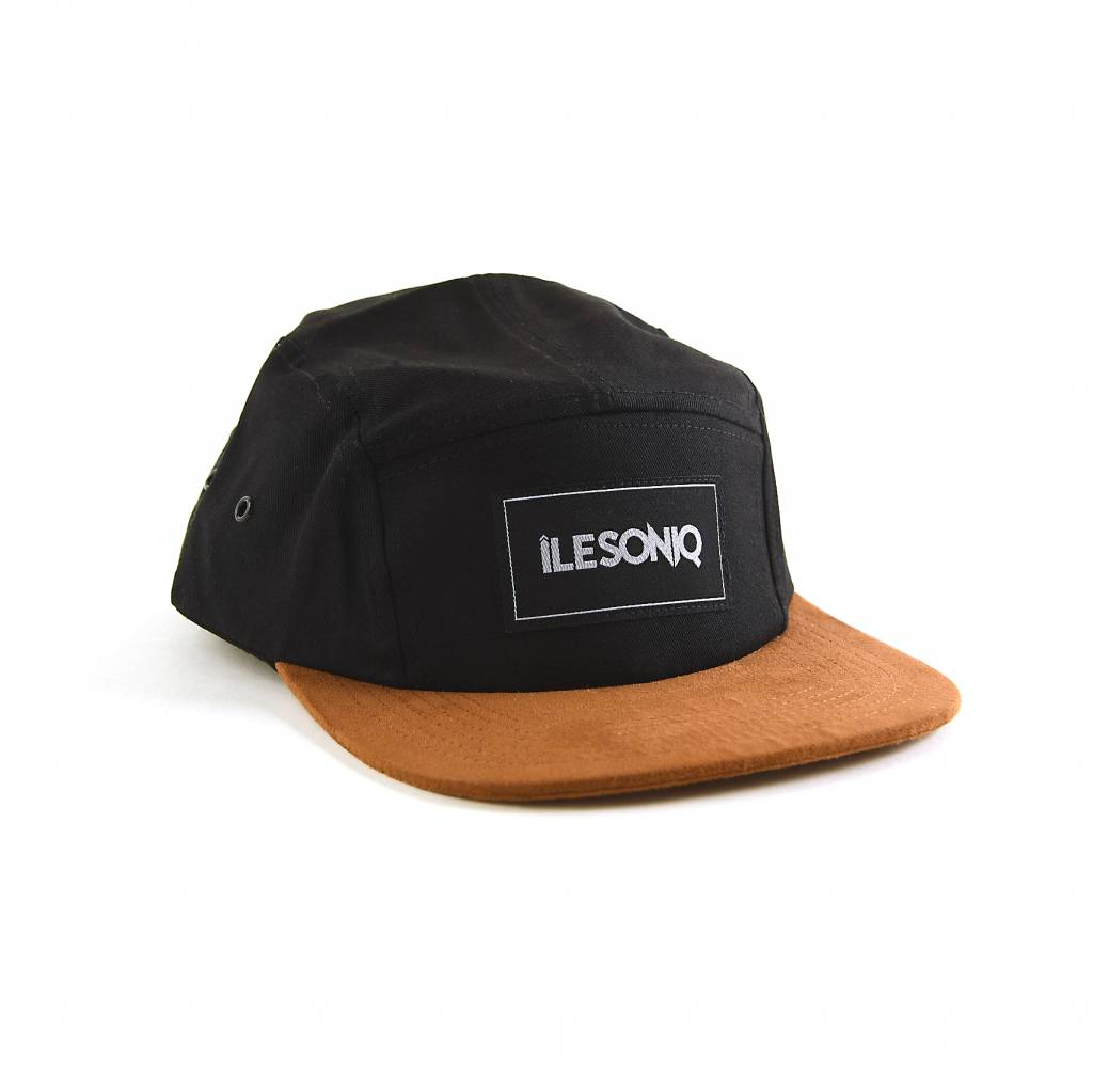 Ile Soniq 5-PANEL BLACK AND SUEDE HAT