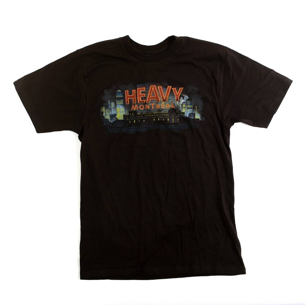 HEAVY MONTREAL HEAVY CITY T-SHIRT LOGO COLOR