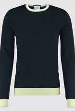 Blue Industry Waffle Crew Neck Sweater