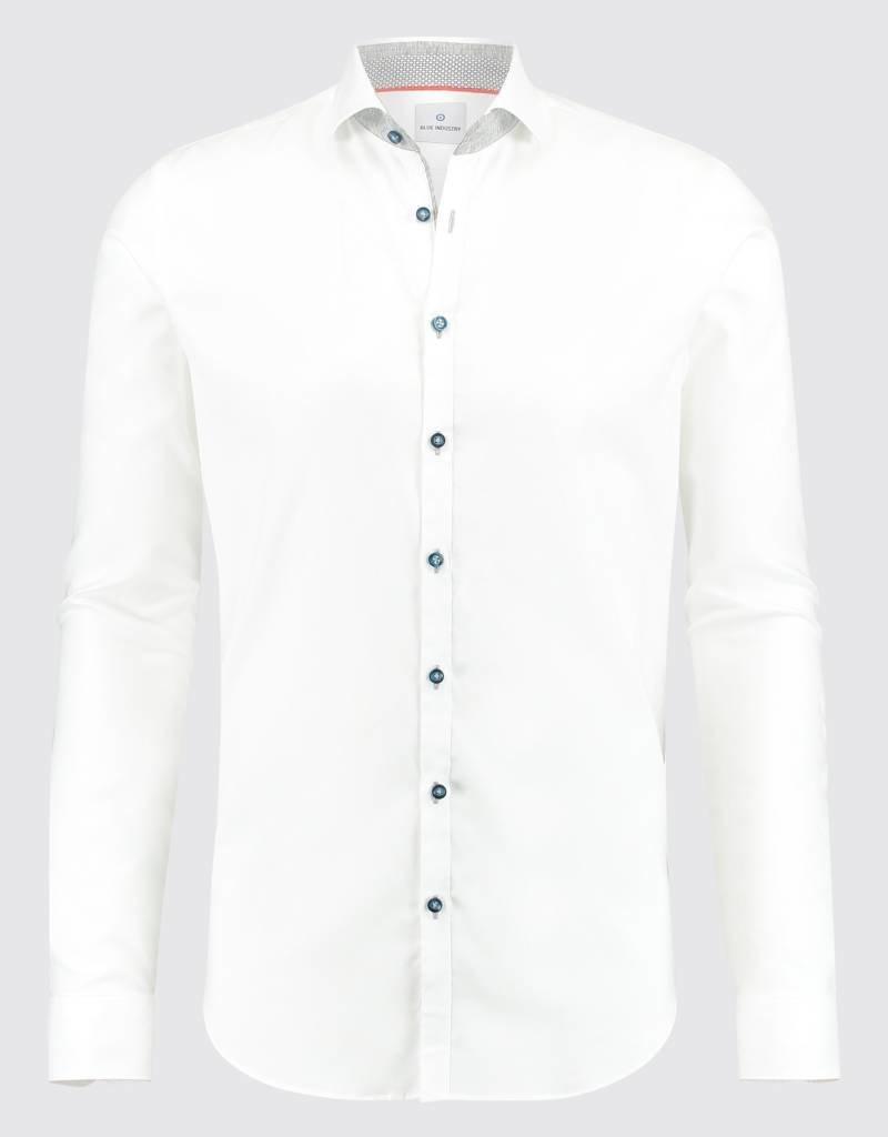 Blue Industry Collar Trim Shirt